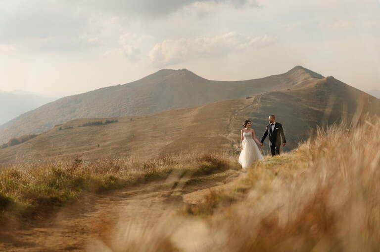 miejsca na sesję ślubną - sesja ślubna w górach